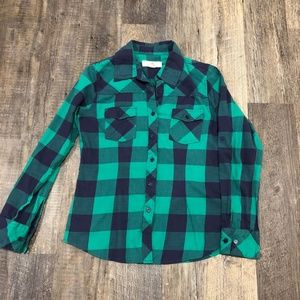 Thread & Supply Green Buffalo Check Shirt